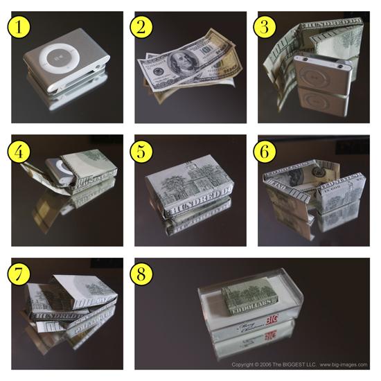 Как сделать коробок из купюры