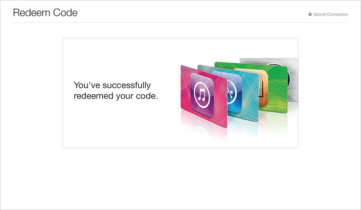 Как активировать подарок в app store